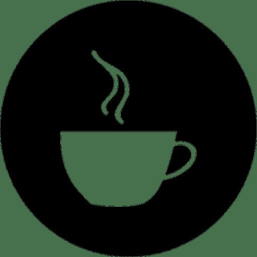 Coffee round service icon