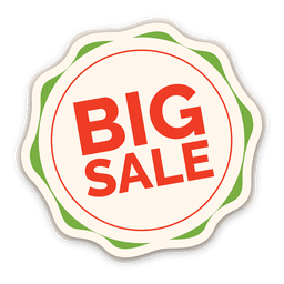 Colorful big sale label