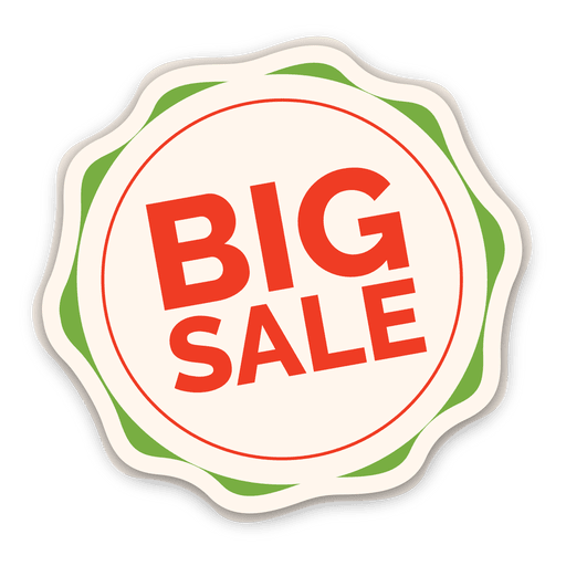 Colorful big sale label Transparent PNG