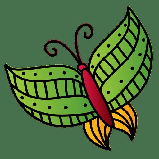 Bunt verzierter Schmetterling Transparent PNG