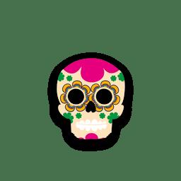 Crânio de açúcar colorido