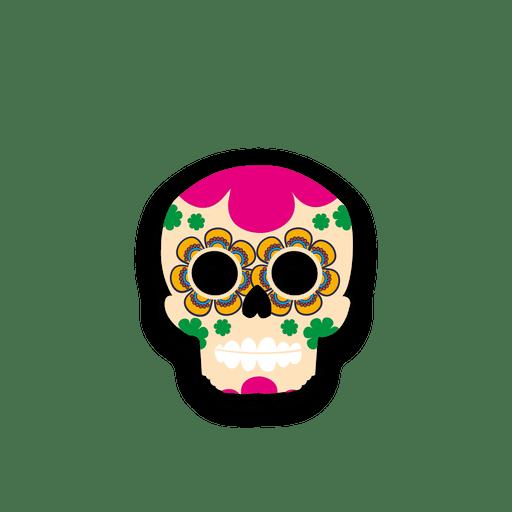 Colorful sugar skull Transparent PNG