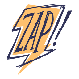Comic slang words zap