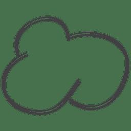 Doodle de discurso em quadrinhos desenhado à mão na nuvem