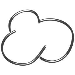 Hand gezeichnetes komisches Sprachegekritzel der Wolke