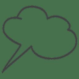 Comic burbuja discurso doodle
