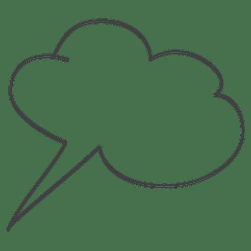 Doodle de discurso de bolha em quadrinhos Transparent PNG