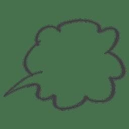 Doodle de la burbuja del discurso cómico