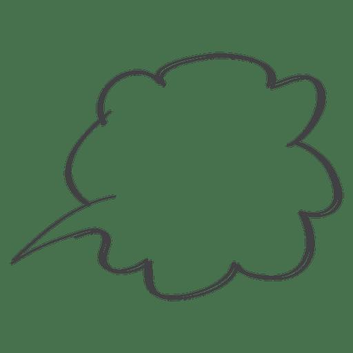 Doodle de balão em quadrinhos Transparent PNG