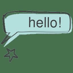 Hello comic speech doodle