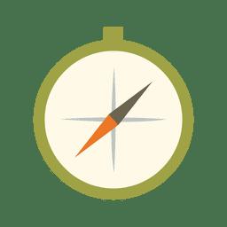 icono kit de viaje brújula