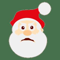 Confused santa claus emoticon
