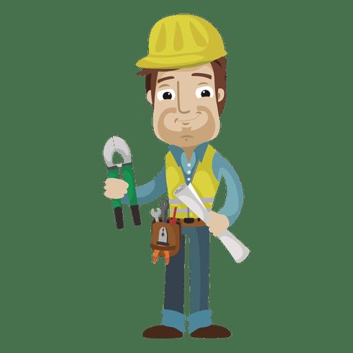 Ilustração dos desenhos animados do trabalhador da construção Transparent PNG