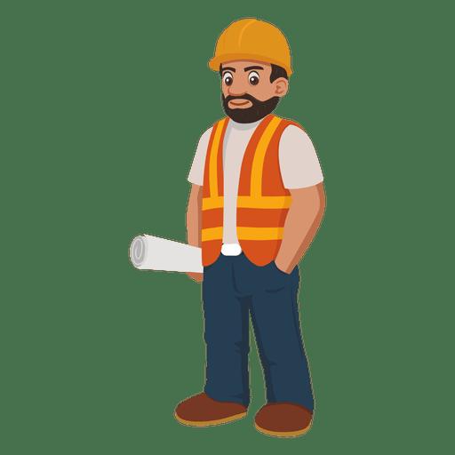 Dibujos animados de trabajador de construcci?n