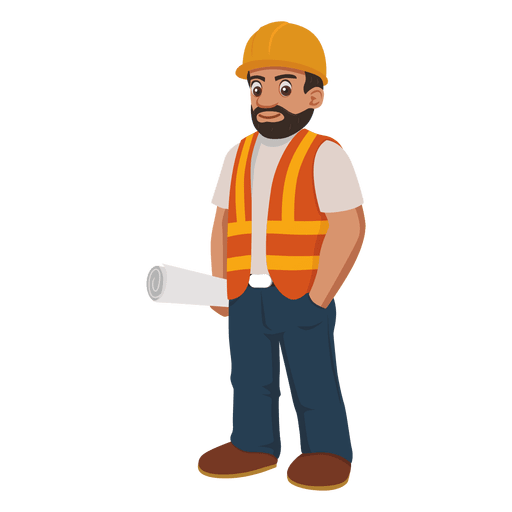 trabajador de la construcción de dibujos animados - Descargar PNG ...