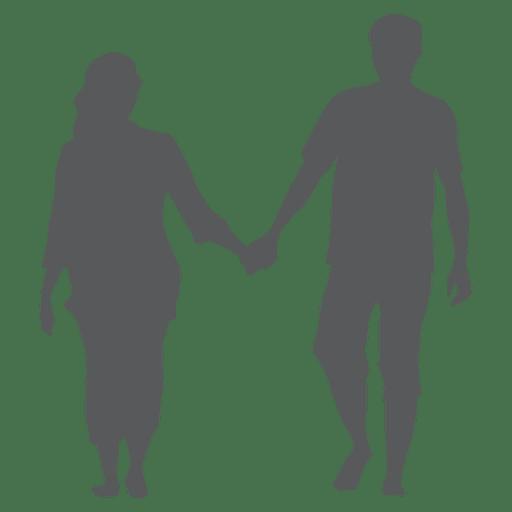 Casal romance silhueta Transparent PNG
