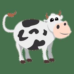 Vaca del dibujo animado de la natividad cristiana