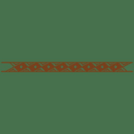 Cross line rectangle border