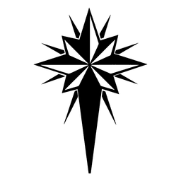 Crucifix snowflake flat icon