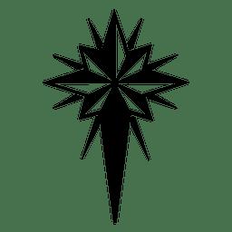 Kruzifix Schneeflocke flach Symbol