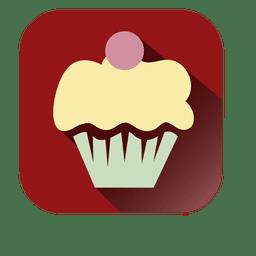 Cupcake flat square icon