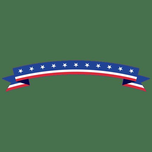 Cinta curvada de Estados Unidos doblada