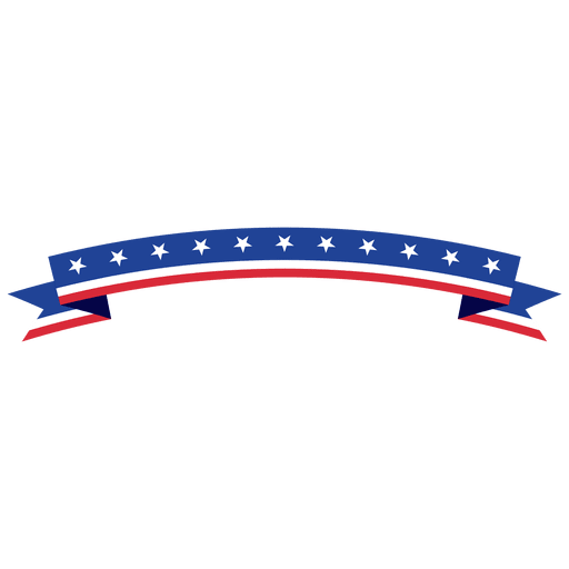 Curved folded usa ribbon Transparent PNG