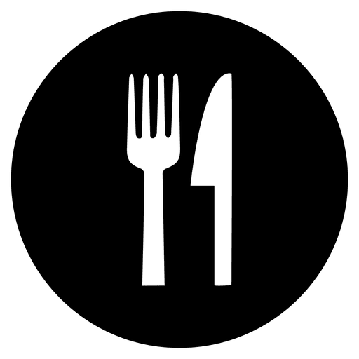 Cutlery round service icon Transparent PNG
