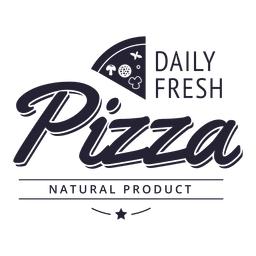 Daily fresh pizza logos