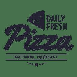 Logotipo de producto natural de pizza