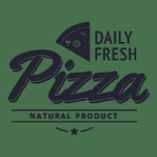 Pizza natural product logo