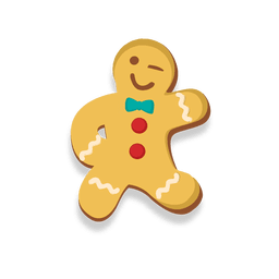 Dancing gingerbread man cookie