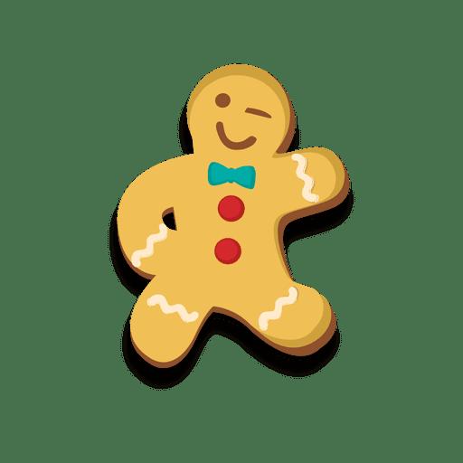 Dancing gingerbread man cookie