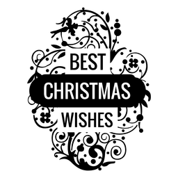 Decorative best christmas wishes badge