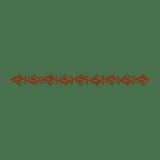 Decorative border pattern