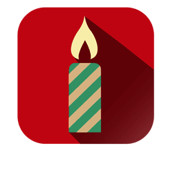 Decorative candle square red icon