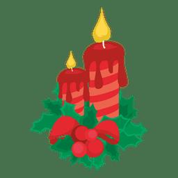 Luzes decorativas de velas de natal