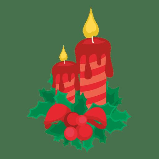 Velas de navidad decorativas