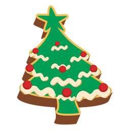 Decorative christmas tree pastrie