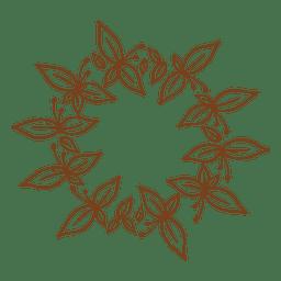 Corona decorativa marco floral