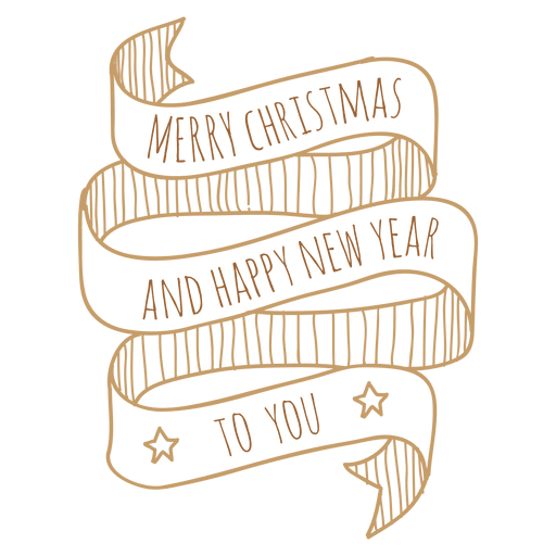 Decorative new year christmas ribbon Transparent PNG