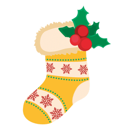 Decorative socks with mistletoe