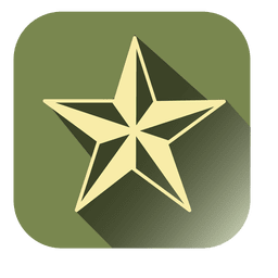 Drop shadow Star square icon