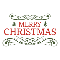 Emblema decorativo ornamentado de Natal