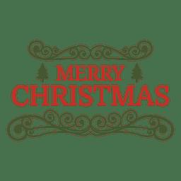 Insignia decorativa de navidad adornado