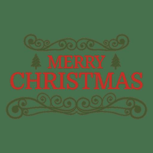 Emblema decorativo ornamentado de Natal Transparent PNG