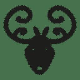 Deer head icon silhouette