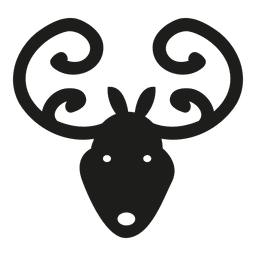 Silhueta de ícone de cabeça de veado