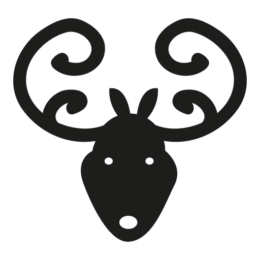 Deer head icon silhouette Transparent PNG