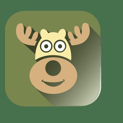 Icono cuadrado de cabeza de ciervo